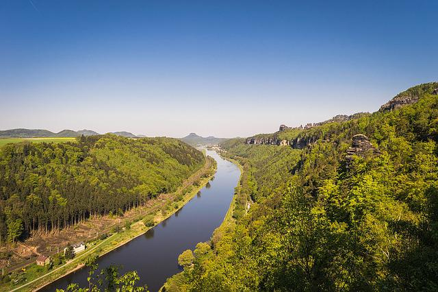Elbe, Saxon Switzerland, Elbe Sandstone Mountains