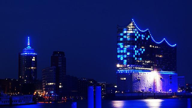 Hamburg, Elbe Philharmonic Hall, Harbour City, Germany