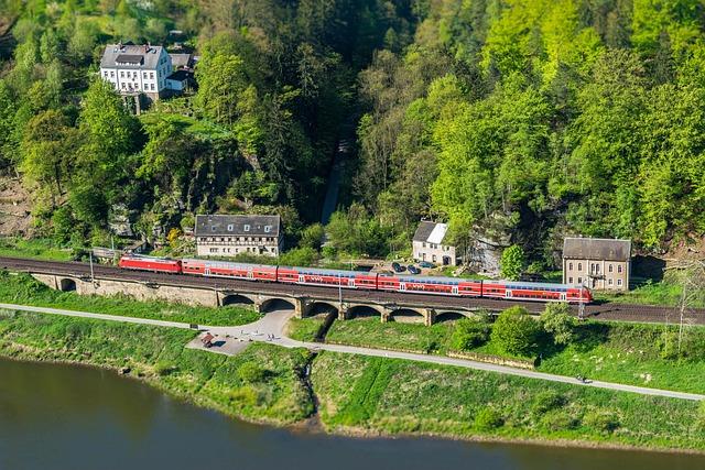 Railway, Elbe, Viaduct, Miniature, Bridge
