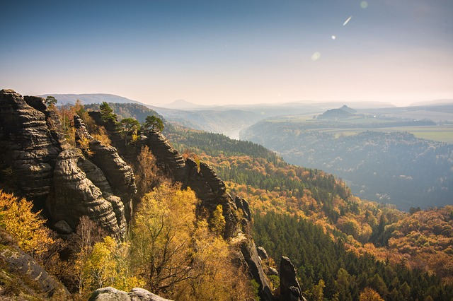 Schrammsteine, Elbe Sandstone Mountains, Climb, Germany