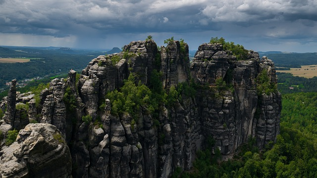 Elbe Sandstone Mountains, Rock, Saxon Switzerland