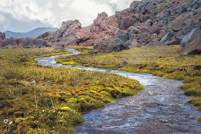 The Caucasus, Russia, Elbrus, River, Creek, Mountains