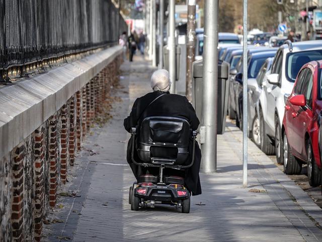 Leave, Disabled, Elder, Elderly Woman, Chair Of Wheels