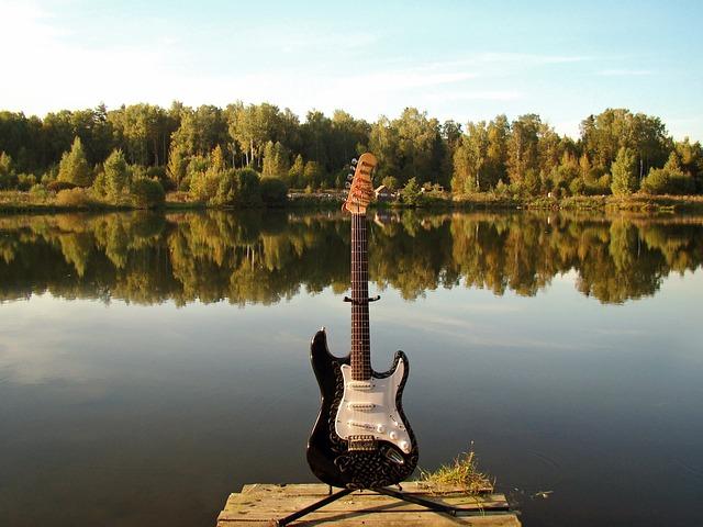Guitar, Lake, Electric Guitar, Music, Water Reflection