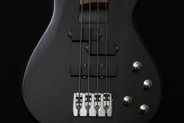 Guitar, Bass, Instrument, Black, Electrically, Music