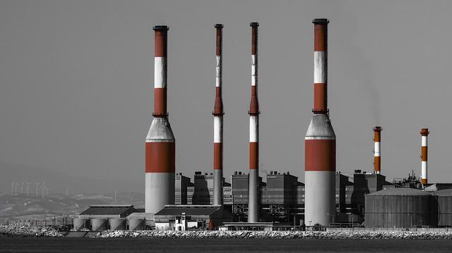 Power Plant, Chimney, Electricity, Energy, Factory