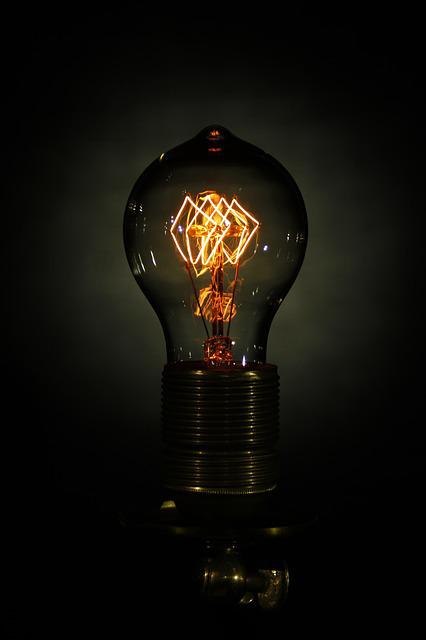 Light Bulb, Disappearing, Edison, Electricity, Light