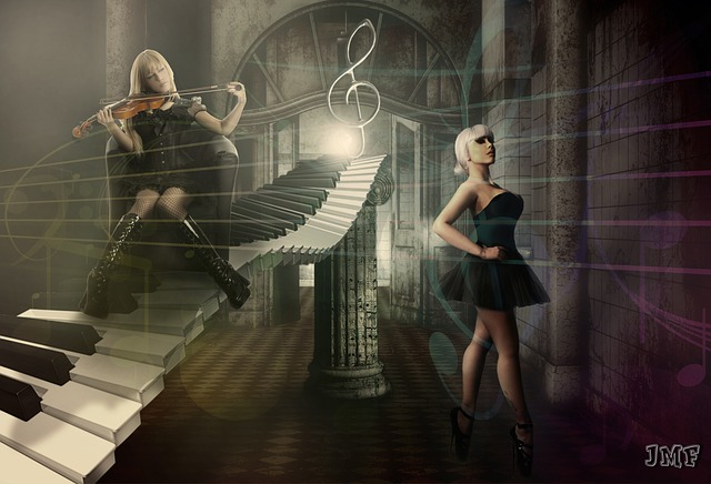 Girls, Models, Person, Elegant, Piano, Clef, Violin