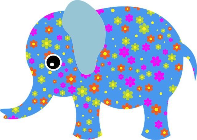 Abstract, Animal, Art, Blue, Cool Remeras, Elephant
