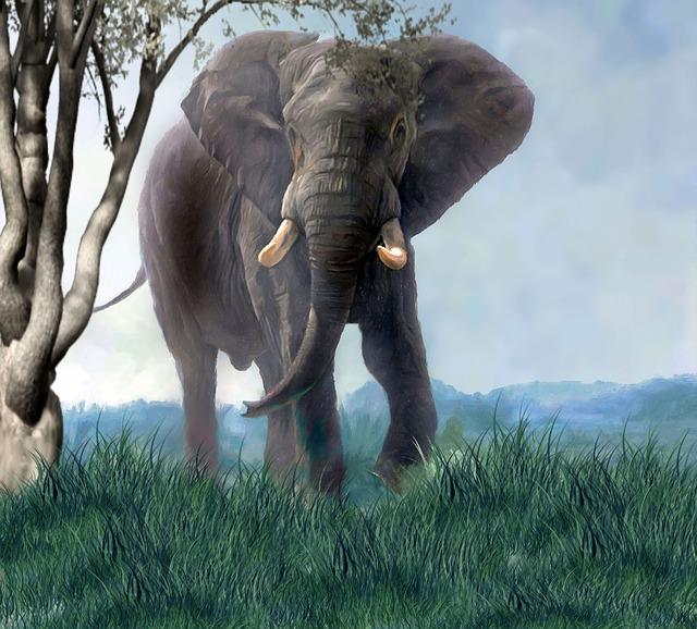 Art, Painting, Elephant, Nature, Animals