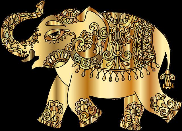 Remix 298313, Elephant, Pachyderm, Animal, Decorative