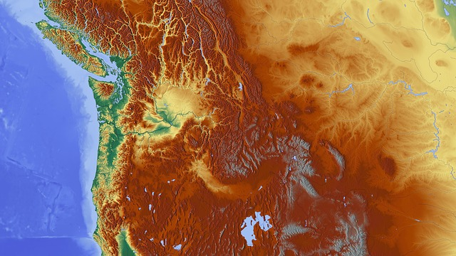 North America, Map, Relief Map, Elevation Profile