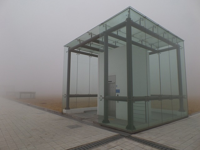 Elevator, Fog, Dark, Incheon, International Campus