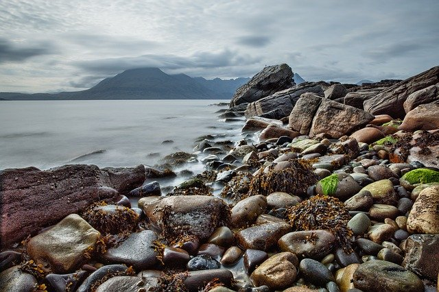 Beach, Rock, Coast, Scotland, Isle Of Skye, Elgol