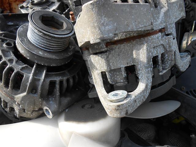 Alternator, Scrap, Auto Parts, Grey, Elv, Car