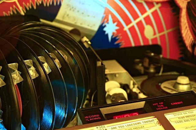 Music Box, Records, Swing, Rockn Roll, Elvis, Plate