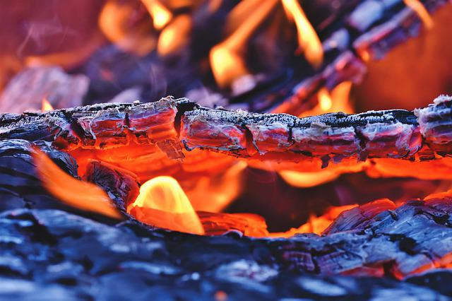 Fire, Fireplace, Embers, Flame, Burn, Brand, Carbon