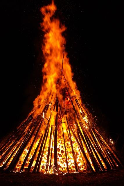 Fire, Flame, Embers, Glow, Hot, Heat, Burn, Midsummer