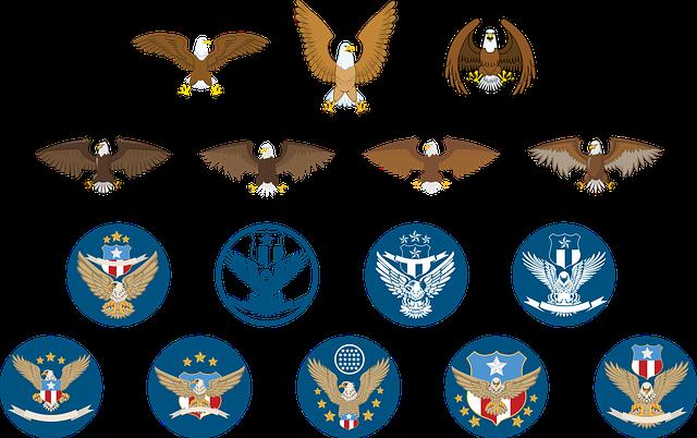 Eagle, Logo, Icon, Animal, Design, Emblem, Logotype
