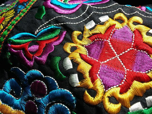 Fabric, Ethnic, Embroidery, Textile, Colorful, Texture