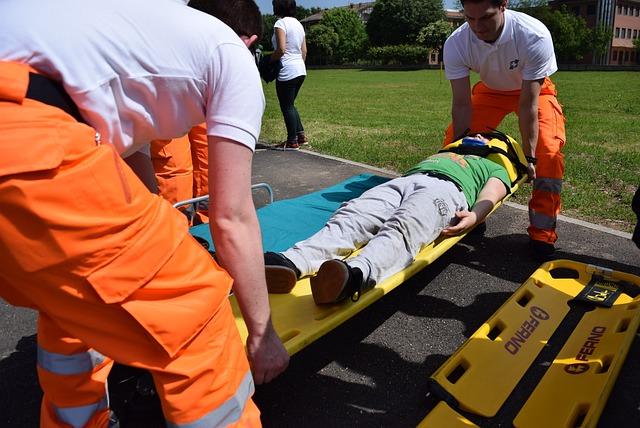 Emergency, Rescue, Stretcher, Injured, Intervention