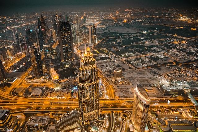 Dubai, Emirates, Burj Khalifa, Skyline, City, Night
