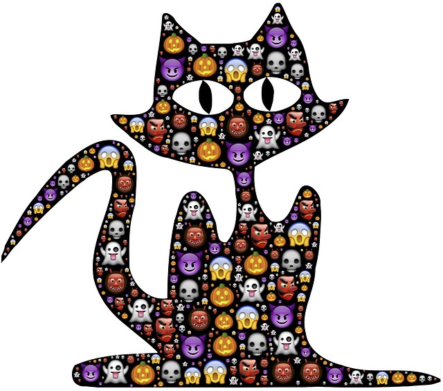 Cat, Halloween, Emoji, Scary, Frightful, Spooky, Icons