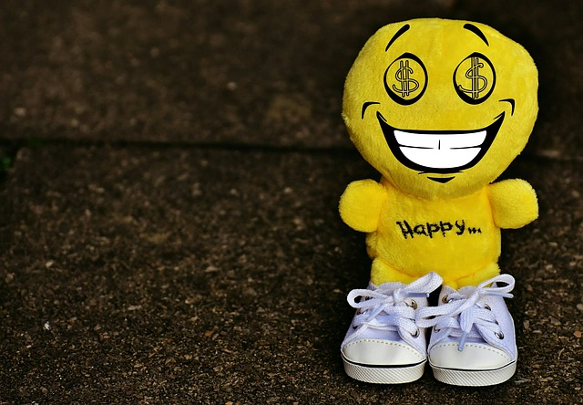 Smiley, Dollar, Greedy, Sneakers, Funny, Emoticon