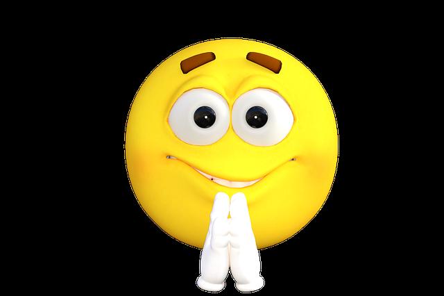 Emoticon, Emoji, Pray, Smiley, Smile