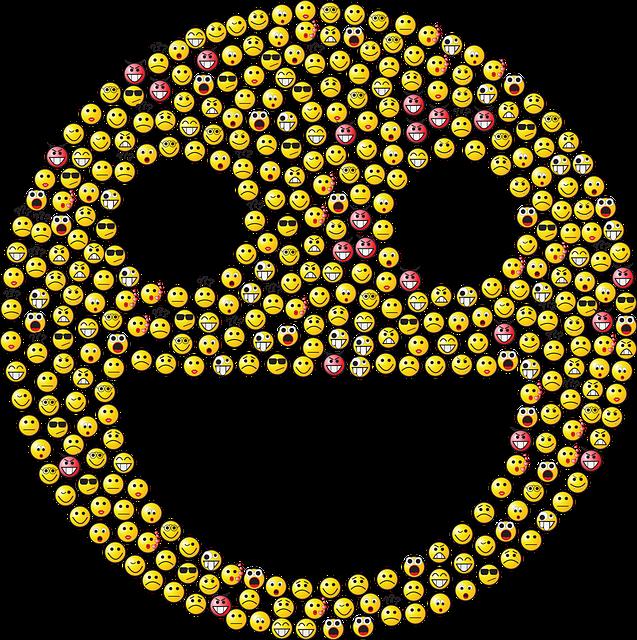 Emoticons, Emoji, Smileys, Icons, Yellow, Fractal