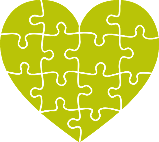 Heart, Puzzle, Portrait, Emotion, Joining Together