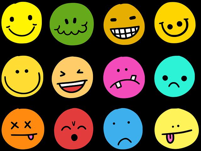 Emotions, Emoji, Emoticons, Icons, Comic, Smiley, Face
