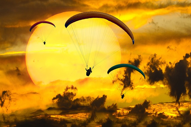 Emotions, Adventure, Fly, Parachute, Paragliding