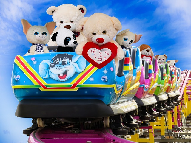 Emotions, Joy, Fun, Roller Coaster, Soft Toys, Teddy