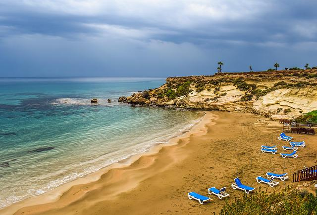 Cyprus, Kapparis, Beach, Empty, Autumn, End Of Season