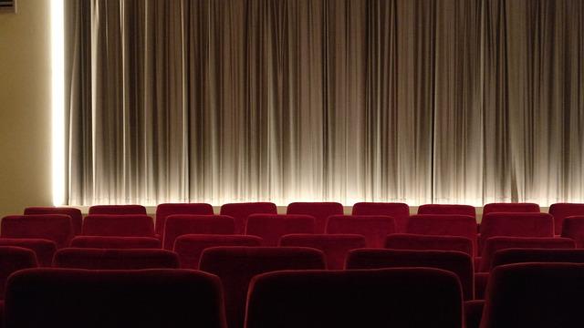 Cinema, Canvas, Steamed, Curtain, Film, Empty, Sit