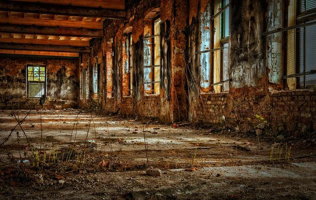 Factory, Hall, Empty, Old Factory, Ruin, Decay