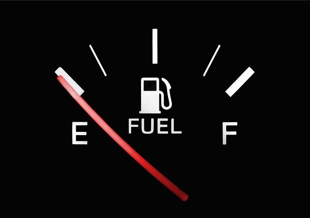 Fuel, Petrol, Gas, Gauge, Empty, Full, Black, White