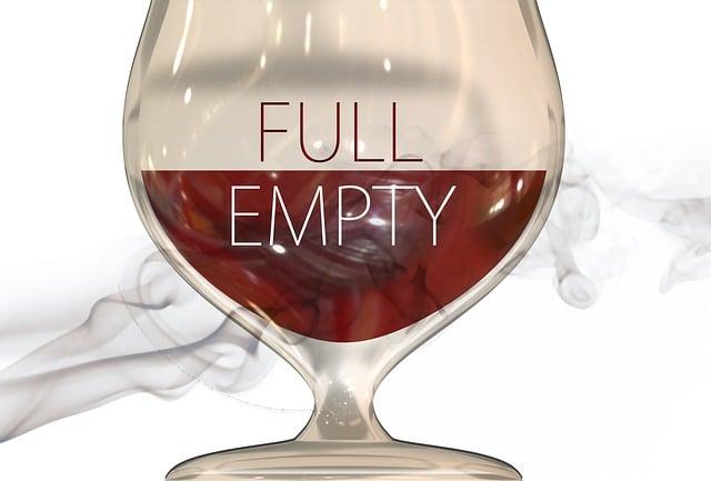 Glass, Cognac, Smoke, Full, Empty, View