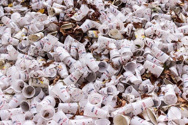 Plastic Cups, Garbage, Disposable Cups, Empty