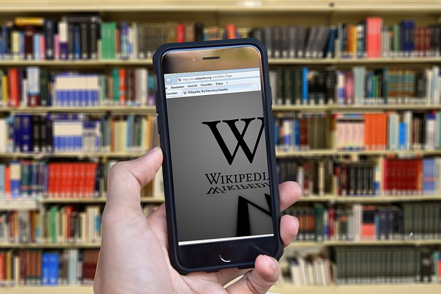 Wikipedia, Books, Encyclopedia, Subjects, Hand, Iphone