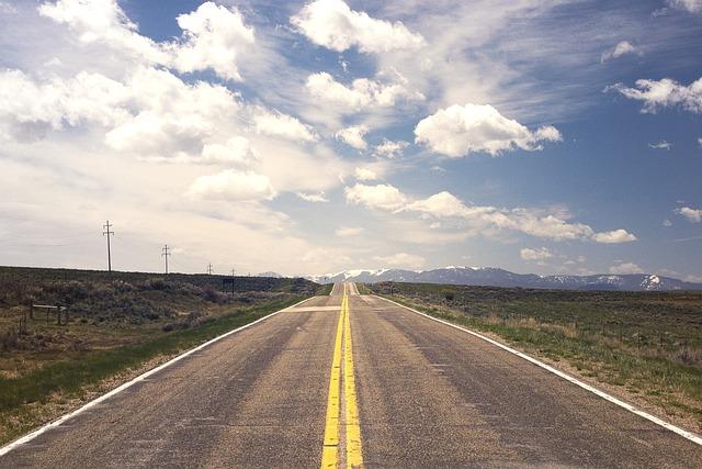 Street, Road, Horizon, Endless, Flatland, America, Usa