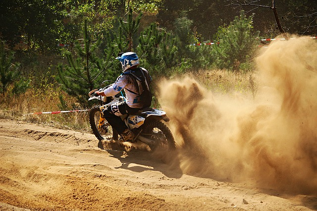 Motocross, Enduro, Sand, Dust, Motorsport, Motorcycle