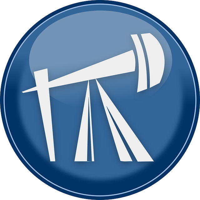 Energy, Oil, Petroleum, Refinery, Button, Blue, Glossy
