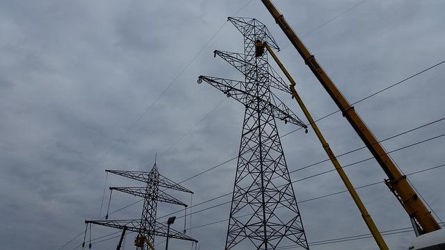Free photo Aerial Pylon Transmission Line Current High