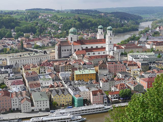 Passau, Old Town, Dom, Danube, Inn, Colorful, Eng