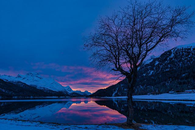 Engadin, Lake Silvaplana, Graubünden, Switzerland