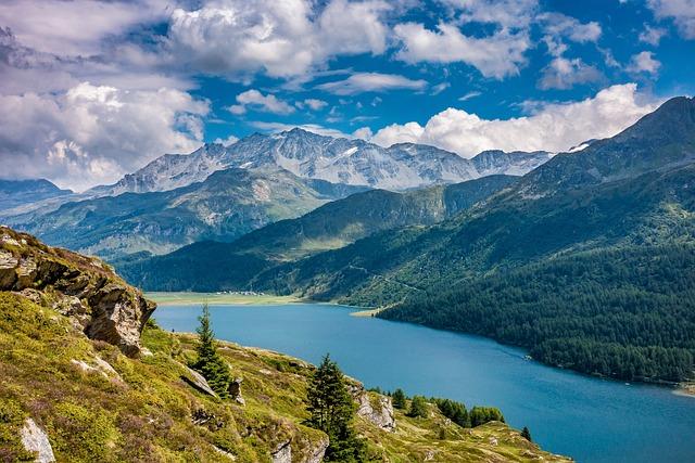 Lake Sils, Engadin, Graubünden, Nature, Switzerland