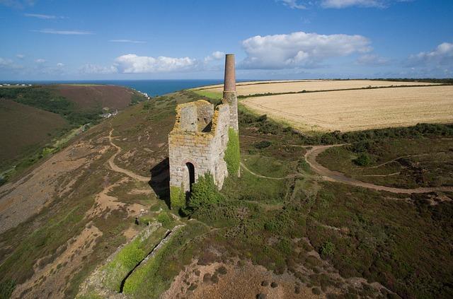 Landscape, Historical, Engine House, Cornish, Cornwall
