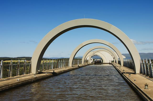 Falkirk, Wheel, Scotland, Uk, Engineering, Lift, Canal